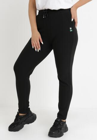 Czarne Spodnie Dresowe Nikyllis
