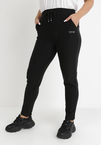 Czarne Spodnie Dresowe Endaera