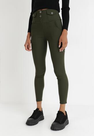 Ciemnozielone Spodnie Skinny Hermiore
