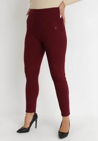 Bordowe Spodnie Slim Chlorousa