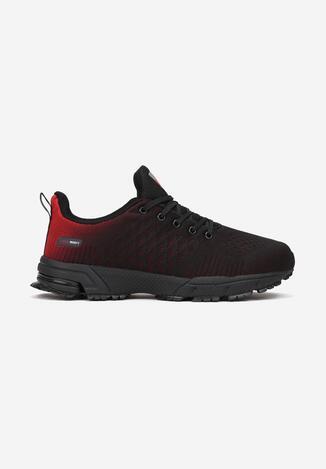 Czarno-Czerwone Buty Sportowe Thaelinca