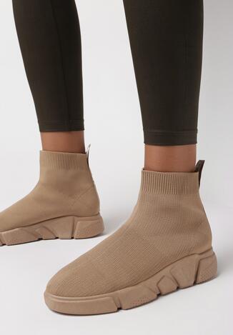 Ciemnobeżowe Sneakersy Mumiah