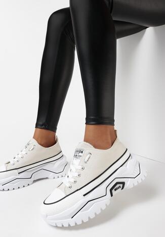 Beżowe Sneakersy Pronenope