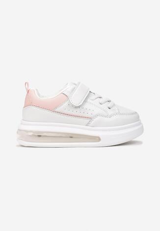 Biało-Różowe Buty Sportowe Ratchet