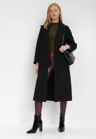 Czarny Płaszcz Cesites
