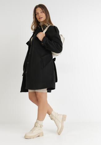 Czarny Płaszcz Hesea