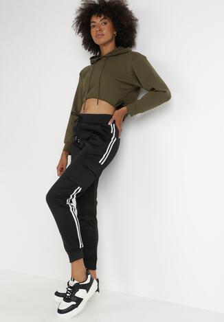 Czarne Spodnie Dresowe Hyno