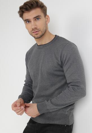 Szary Sweter Z Wełną Appesilea