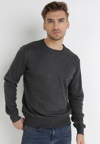 Ciemnoszary Sweter Z Wełną Appesilea