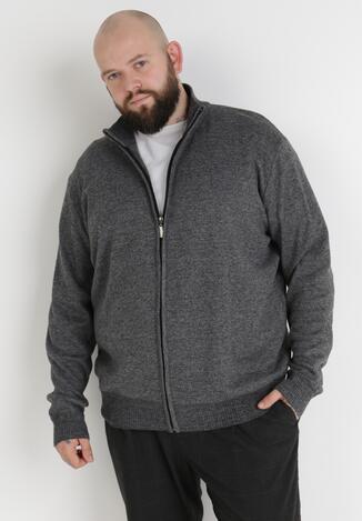 Szary Sweter Z Wełną Asoania