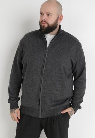 Ciemnoszary Sweter Z Wełną Asoania
