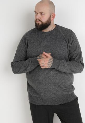 Szary Sweter Z Wełną Orameia