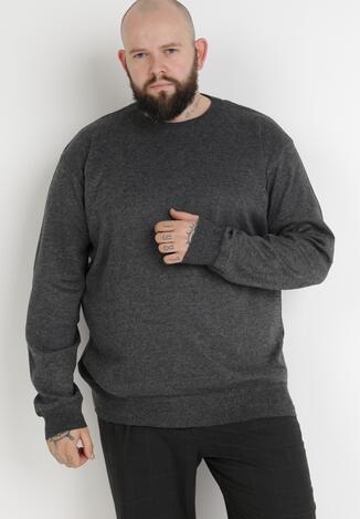 Ciemnoszary Sweter Z Wełną Orameia