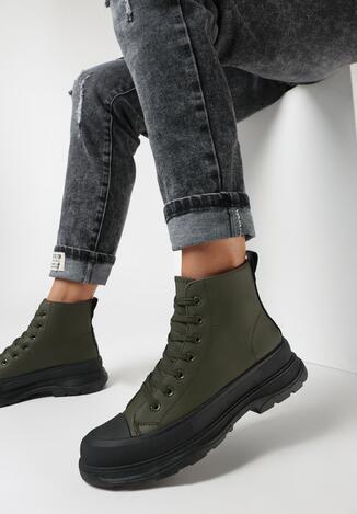 Oliwkowe Sneakersy Corano