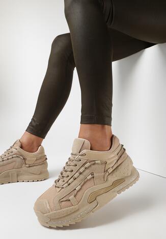 Ciemnobeżowe Sneakersy Rhodyne