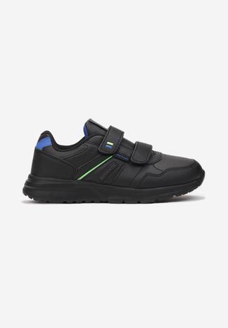 Czarno-Niebieskie Buty Sportowe Atherios