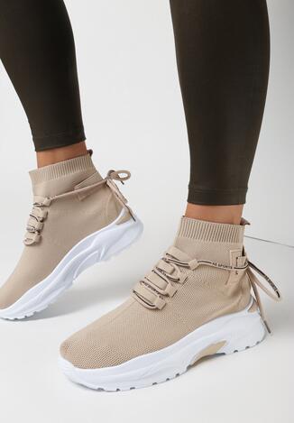 Ciemnobeżowe Sneakersy Kallissa