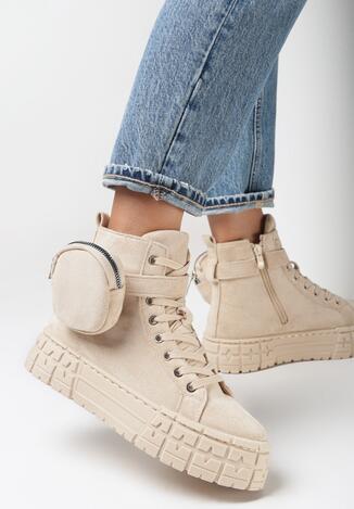 Beżowe Sneakersy Delyle