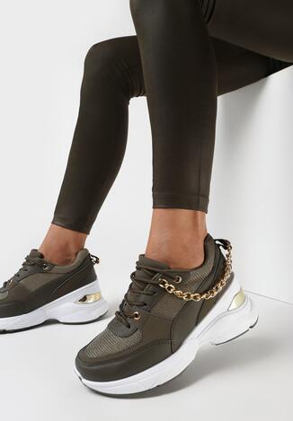 Oliwkowe Sneakersy Dephaera