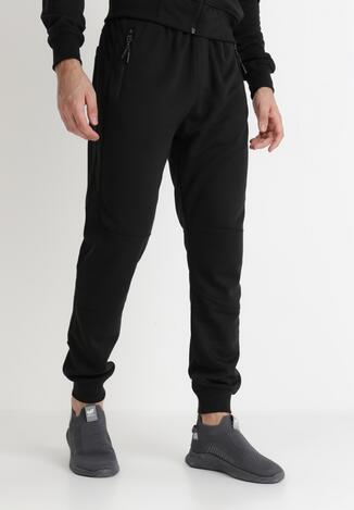Czarne Spodnie Dresowe Actane