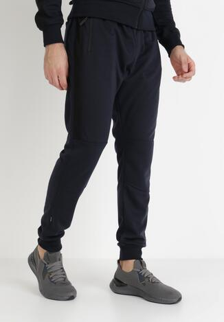 Granatowe Spodnie Dresowe Actane