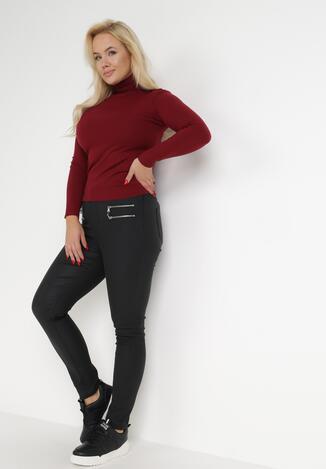 Czarne Spodnie Slim Achyrtus