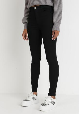 Czarne Spodnie Skinny Basane