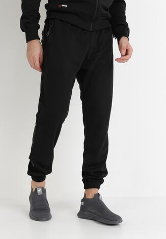 Czarne Spodnie Dresowe Harmile