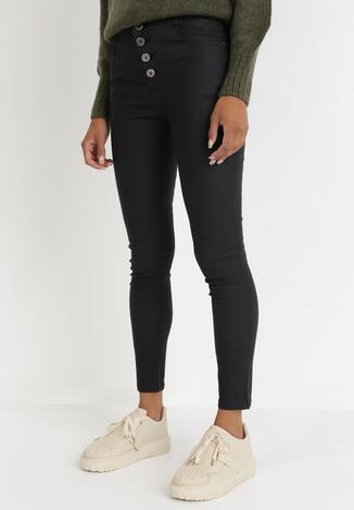 Czarne Spodnie Skinny Thaelitrite