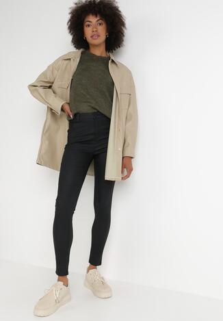 Czarne Spodnie Skinny Thaelele