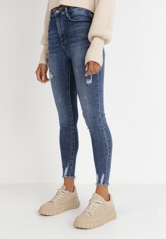 Niebieskie Jeansy Skinny Phinaleia