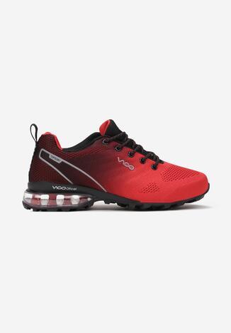 Czerwono-Czarne Buty Sportowe Thespophia
