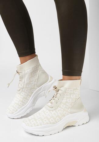 Beżowe Sneakersy Egadina