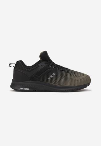 Czarne-Khaki Buty Sportowe Agano