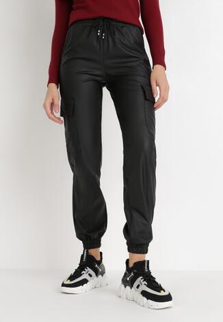 Czarne Spodnie Joggery Amarhora