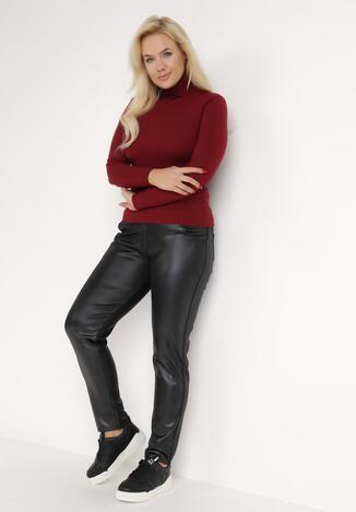 Czarne Spodnie Slim Pyrhala