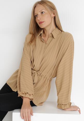 Ciemnobeżowa Koszula Iphinca