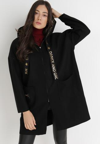 Czarny Płaszcz Polima
