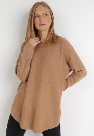 Ciemnobeżowy Sweter Z Wełną Kasosa