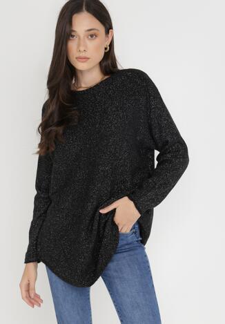 Czarny Sweter Z Wełną Kasosa