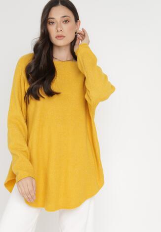 Żółty Sweter Z Wełną Kasosa