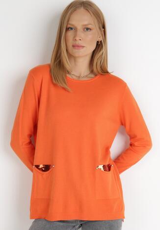 Pomarańczowy Sweter Kirotus