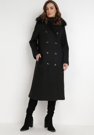 Czarny Płaszcz Hyrerine
