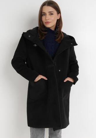Czarny Płaszcz Cillon