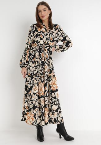 Czarno-Beżowa Sukienka Periera