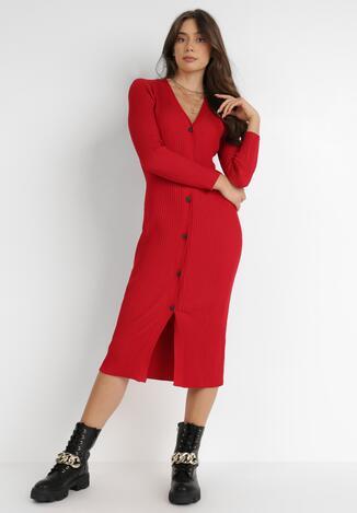 Czerwona Sukienka Basanthe