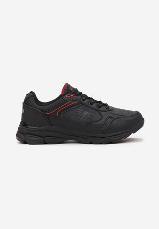Czarno-Czerwone Buty Sportowe Iomite