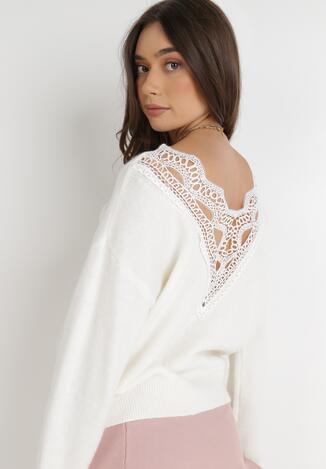 Biały Sweter Barbyne
