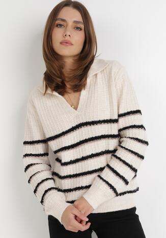 Jasnobeżowy Sweter Katea