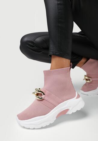 Różowe Sneakersy Echoma